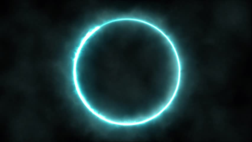 Plasma ring on a dark background. Animation. Abstract background. - HD stock footage clip