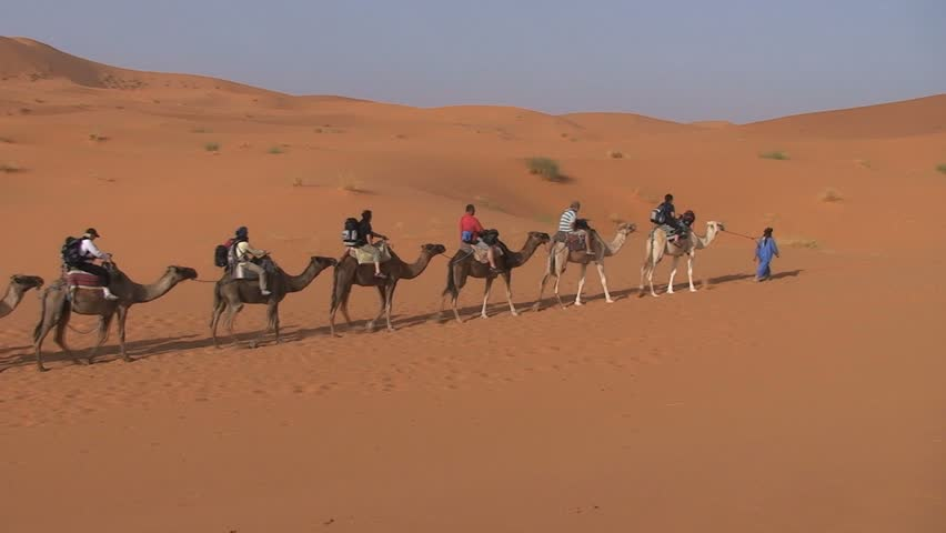MOROCCO - CIRCA MARCH 2011: Camel riding