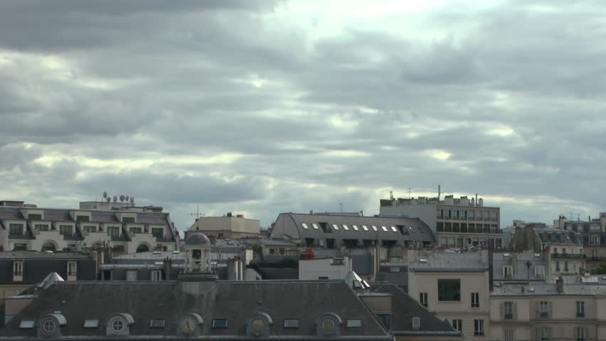 Pan Shot Of Parisian Skyline With Eiffel Tower | Shutterstock HD Video #17622076