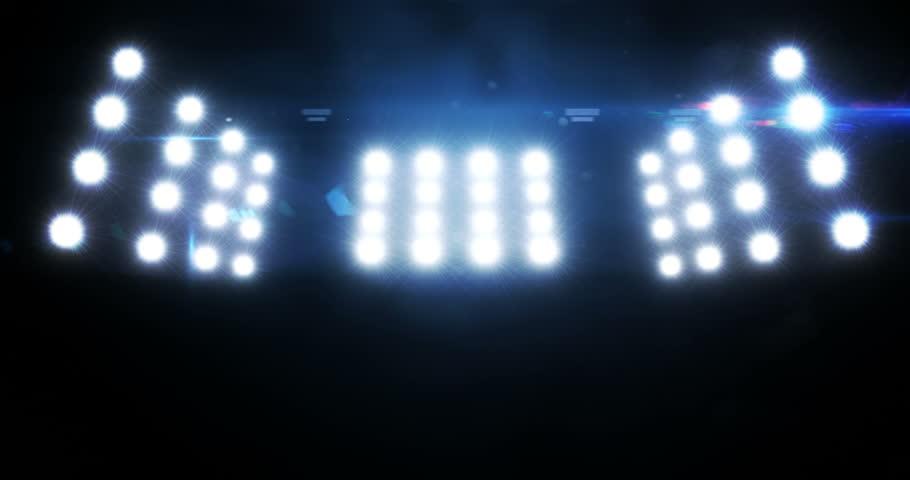 Stadium Lights Stock Footage Video 8000899