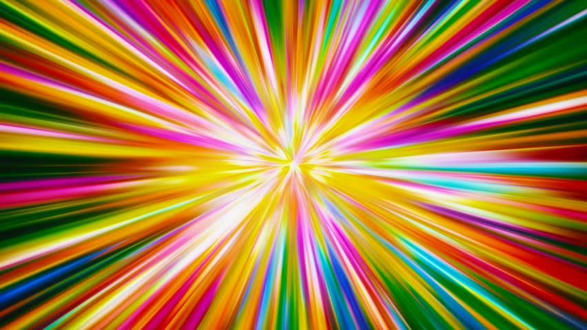 Colorful Lines Blast (Seamlessly Looping Background) - 4K stock footage clip