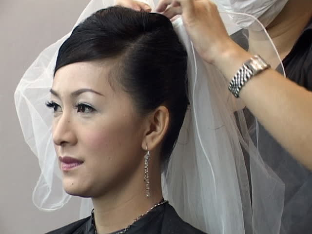 Asian Bride - SD stock video clip