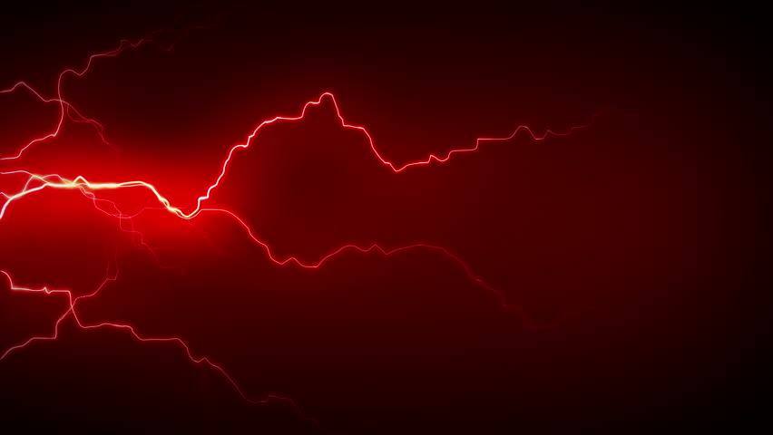 4K Electricity Side Red - Electricity or plasma crackling. This is 1 clip in a set of 3. All clips are available in multiple color options and loop seamlessly. - 4K stock footage clip