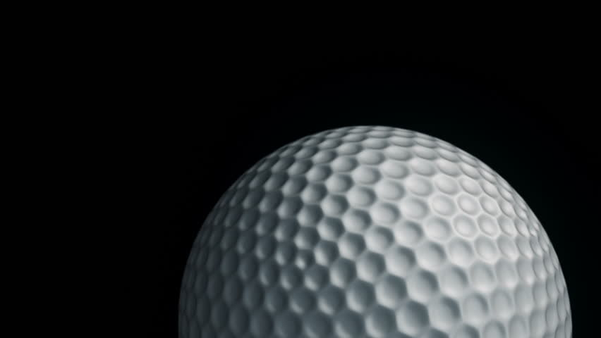 Animation of slow rotation ball for golf game. View of close-up with realistic texture and light. Animation of seamless loop. | Shutterstock HD Video #17912524