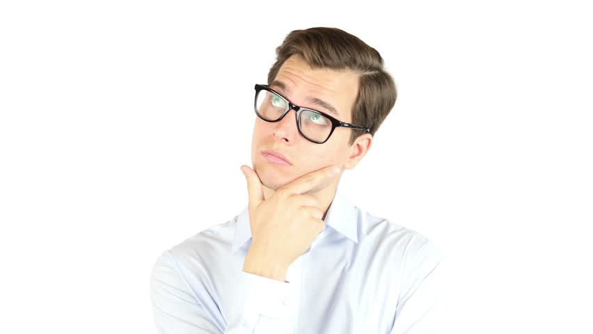 Portrait of the young thinking man , looking at copy-space thinking or dreaming | Shutterstock HD Video #17915035