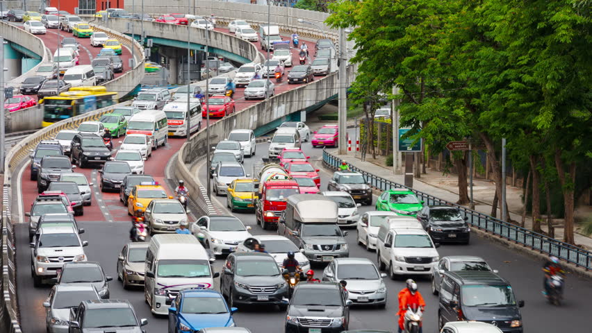 Timelapse of traffic jam on the road at Lat Phrao Square in Bangkok, Thailand. Ladprao is one of the most busiest street in rush hour in Thailand   Shutterstock HD Video #17970799