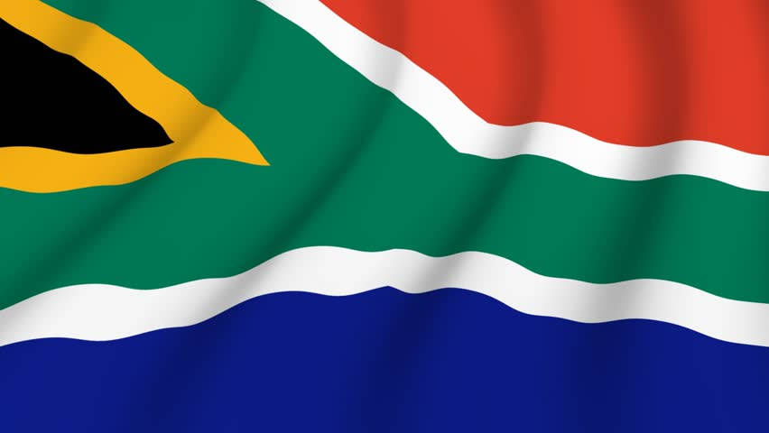 Waving national flag of South Africa - HD stock video clip