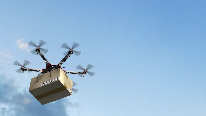 Drone Hexacopter delivers a package | Shutterstock HD Video #17977540