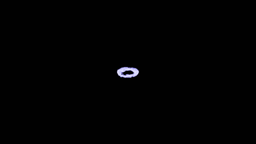 High quality animation of a magical portal, isolated on a black background. - HD stock video clip