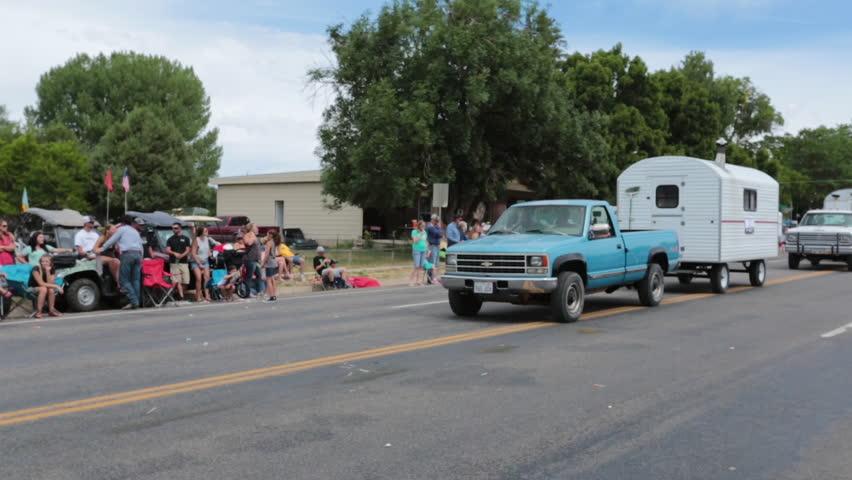 Fountain Green Utah Jul 2014 Aerial Rural Parade Sheep