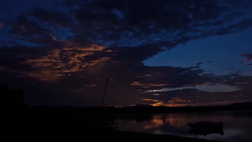 Spectacular Sunrise Over Lake Elsinore Timelapse