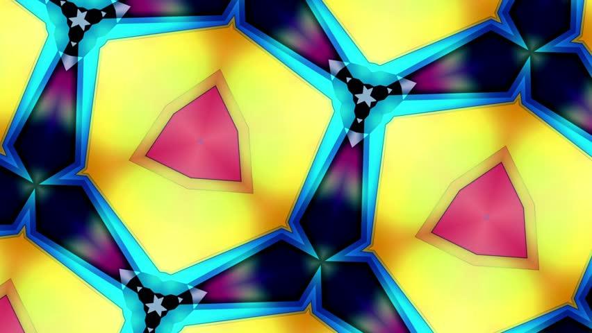 Kaleidoscope - Colors Loop - Tint Step - Macro And Rotate
