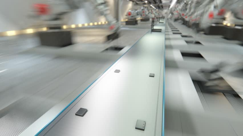 Robotic Arm Assembling 3d Printer On Conveyor Belt | Shutterstock HD Video #18241879
