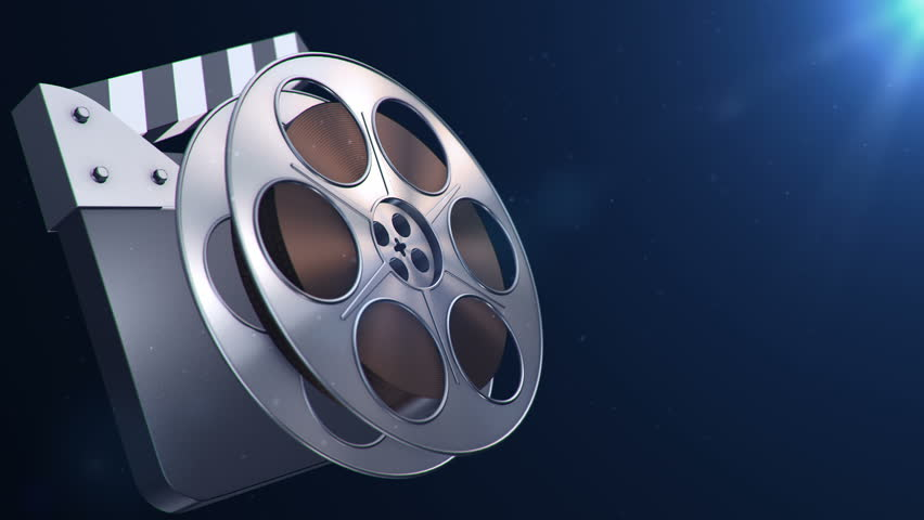 Animation Of Film Reel In Abstract Movie Theater. Have ...