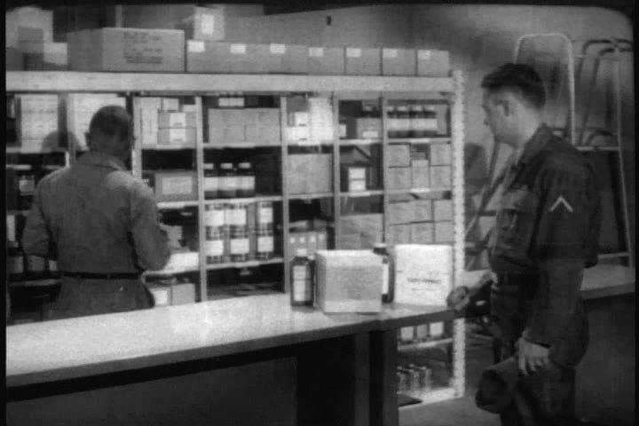 Controlling and maintaining the inflow and outflow of medical supplies under a budget in 1967. (1960s)