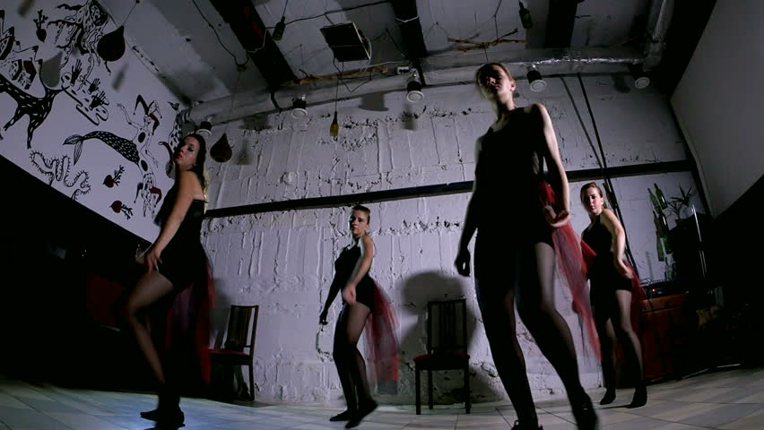 Contemporary dance performance of four dancers | Shutterstock HD Video #18379372