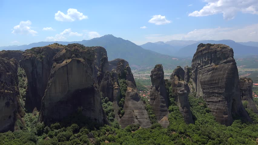 Meteora monolithic mount formation. Greece