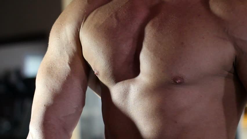 bodybuilder  - HD stock footage clip