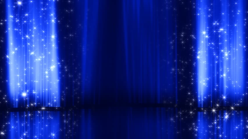 Blue stage curtain background - Blue Stage Curtains Background Blue Curtain Stock Footage Video