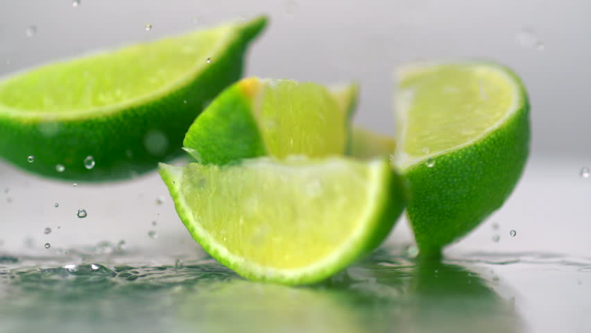 Close-up three whole limes