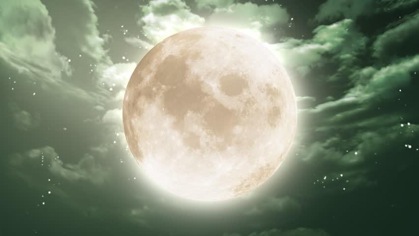 large moon night sky