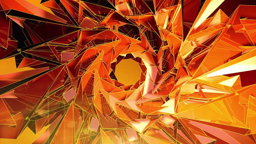 Abstract Background - Triangle - Orange - 5
