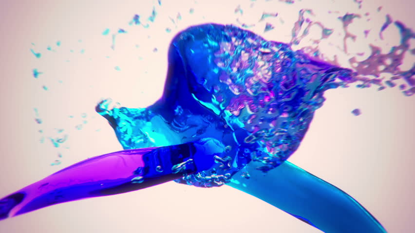 Colored water splashing + alpha channel