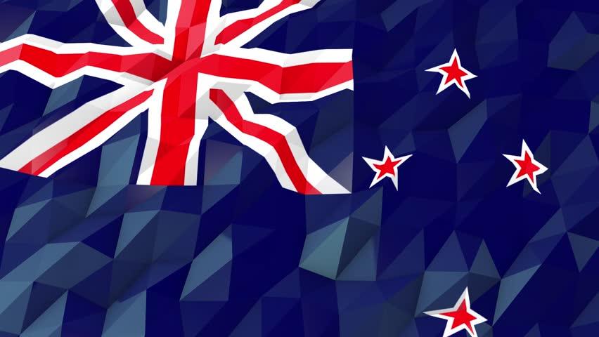 New Zealand Flag Wallpaper: New Zealand Flag Stock Footage Video