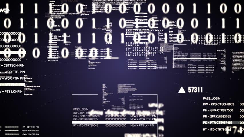 Code Text flying.Running hud text.Technological intro, screensaver  | Shutterstock HD Video #19020217
