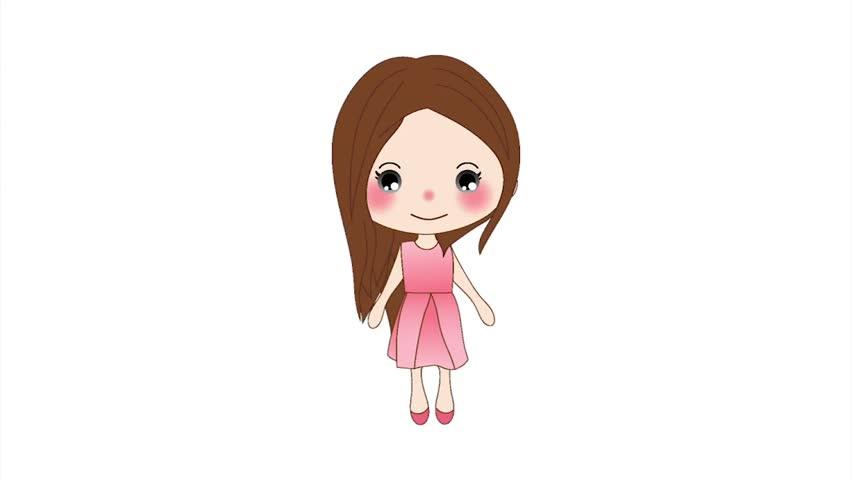 white girl animated