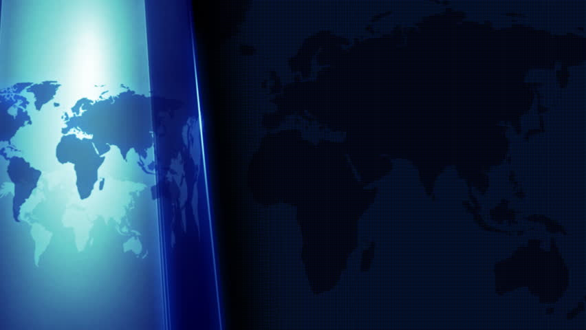 Broadcast news intro animation with orbiting 3d globe. | Shutterstock HD Video #19144885