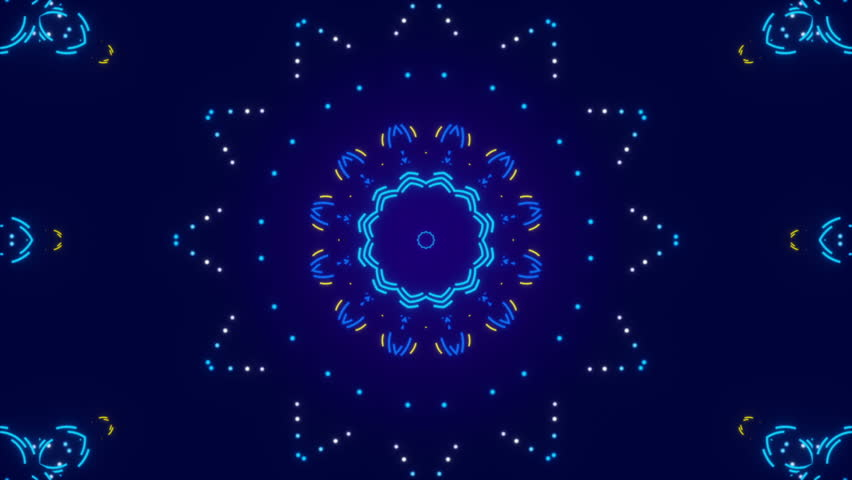 Blue abstract background, kaleidoscope shapes and particles, loop | Shutterstock HD Video #19330186