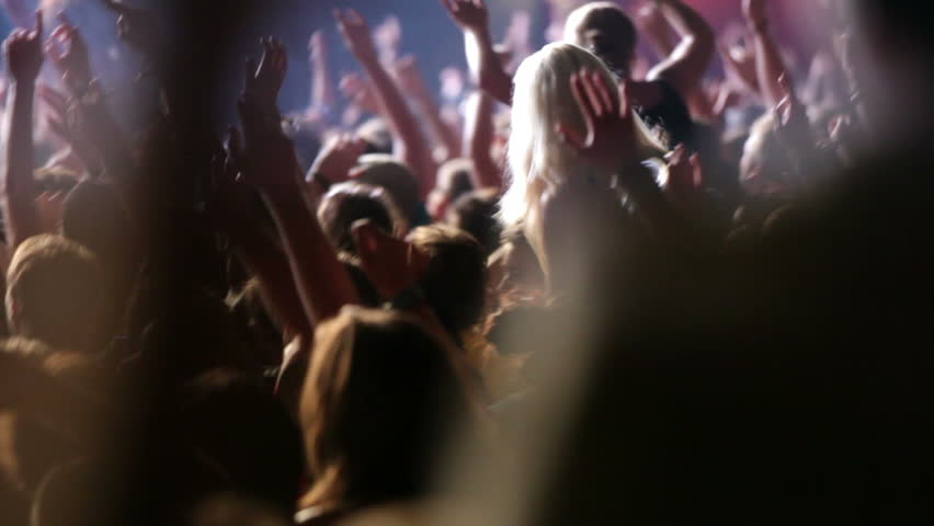 Footage of a crowd partying at a rock concert | Shutterstock HD Video #1935535