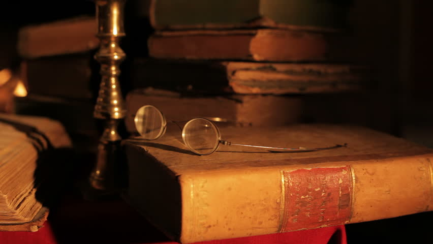 Old books - HD stock video clip