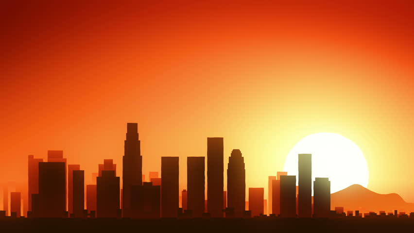 Los Angeles California USA America Skyline Sunrise Take Off | Shutterstock HD Video #19558723