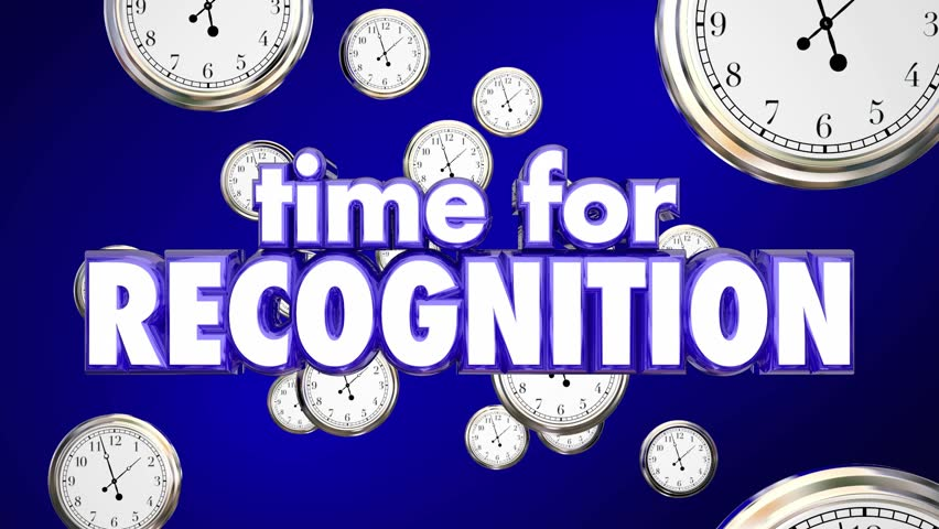 Time for Recognition Appreciation Clocks Honor 3d Animation #19622659