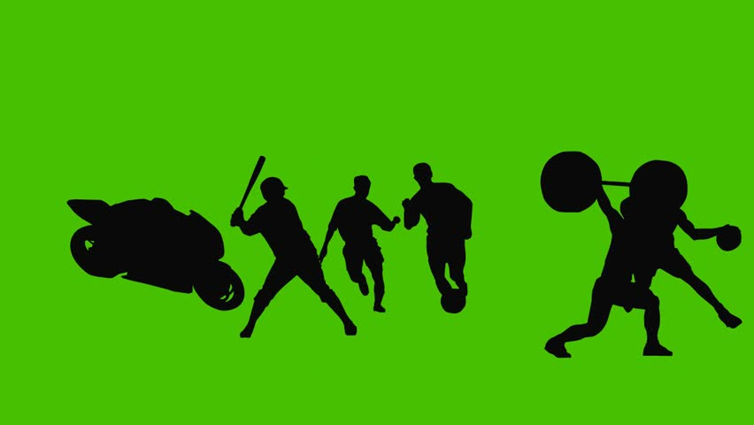 Silhouette sports.  | Shutterstock HD Video #1966441