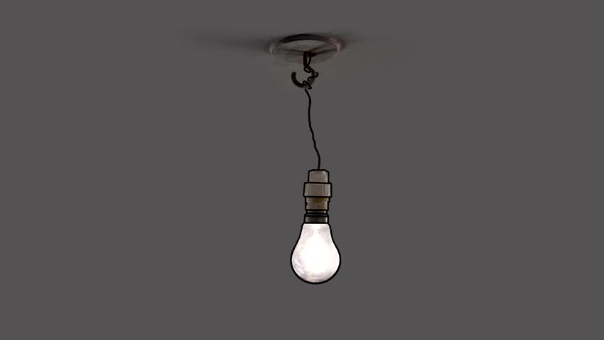 Light Bulb Swinging In Dirty Dark Room Stock Footage Video ...