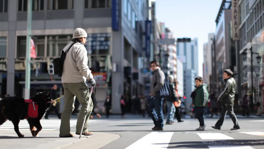 TOKYO - FEBRUARY 11: Pedestrians walking in a closed street in Ginza, Tokyo on February 11, 2012. Ginza is the luxury district of Tokyo and has some of the most expensive real estates in the world. - HD stock video clip
