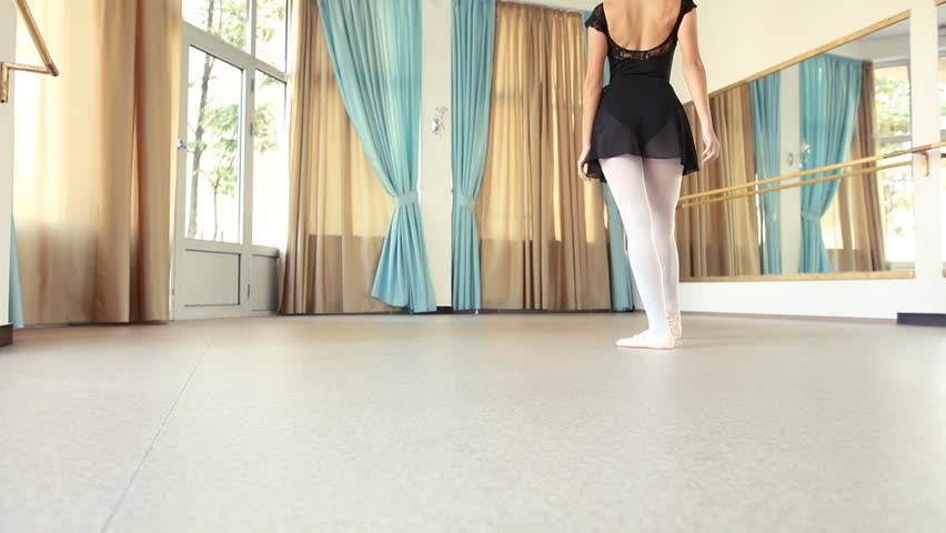 Ballerina performing and practicing in her ballet studio | Shutterstock HD Video #19835986