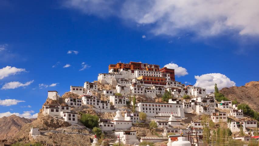 4K Timelapse Thiksey Monastery, Leh Ladakh, Jammu and Kashmir, India   Shutterstock HD Video #19861366