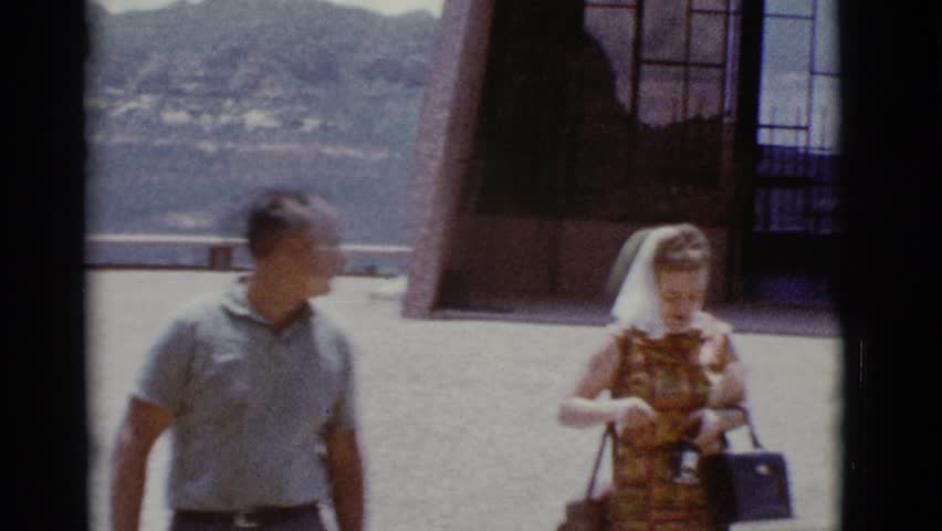 Mom And Dad With Son At Easter (1963 - Vintage 8mm Film