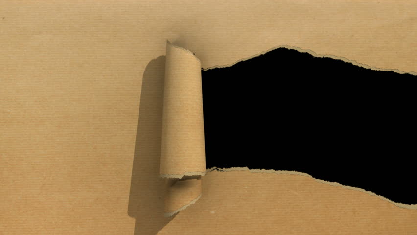 Ripping brown paper animation with matte.