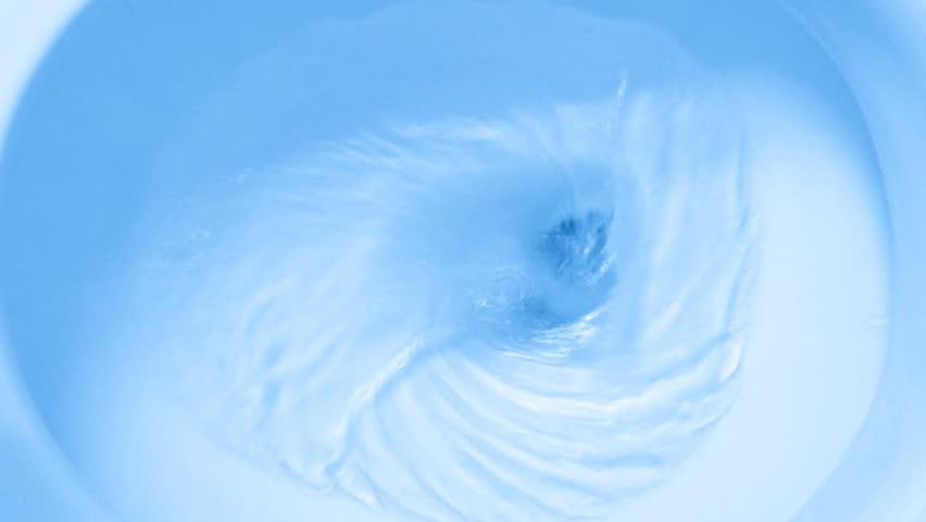 flush the toilet blue tone