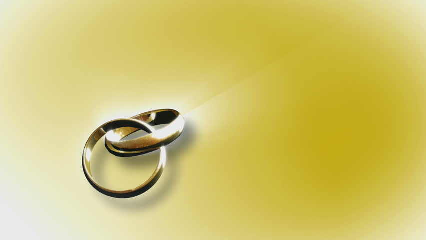 Spinning Wedding Ring - HD stock footage clip