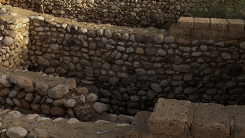 The ancient Tel Be'er Sheva site shot in Israel. - HD stock video clip