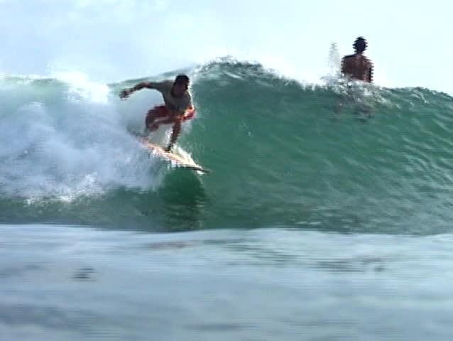Brazilian surfer. - SD stock footage clip