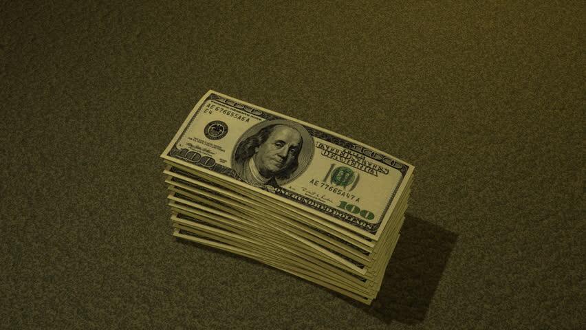 Hundred Dollar Bill Growing Pile