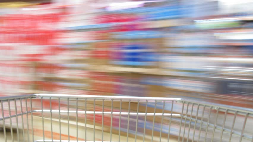 shopping cart time lapse - HD stock video clip