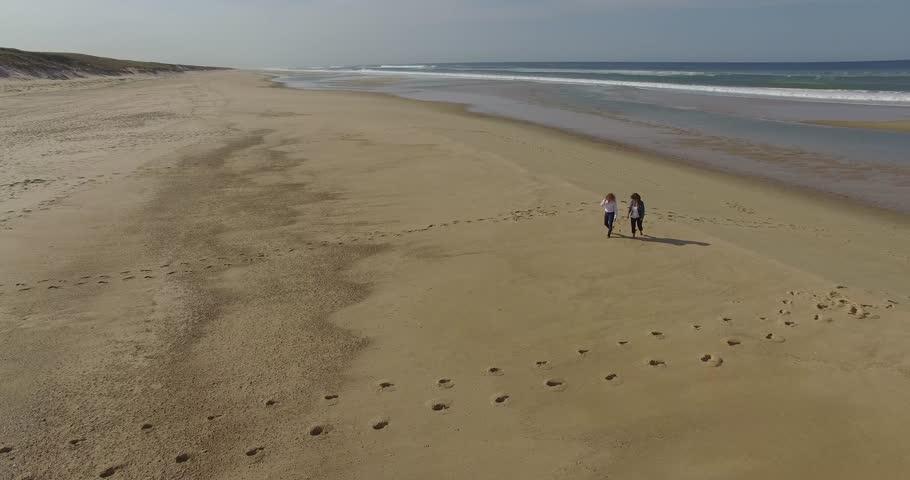 Women walking on the beach | Shutterstock HD Video #20540866